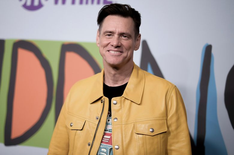"""CORRECTS TITLE TO MEMOIRS AND MISINFORMATION – FILE – In this Sept. 5, 2018 file photo, Jim Carrey attends the LA Premiere of """"Kidding """"at ArcLight Hollywood in Los Angeles. Carrey is working on a novel called """"Memoirs and Misinformation,"""" Alfred A. Knopf announced Wednesday, Oct. 2, 2019. Along with co-author Dana Vacjon, Carrey will take on celebrity, acting, romance and some other subjects he's familiar with. (Photo by Richard Shotwell/Invision/AP, File)"""