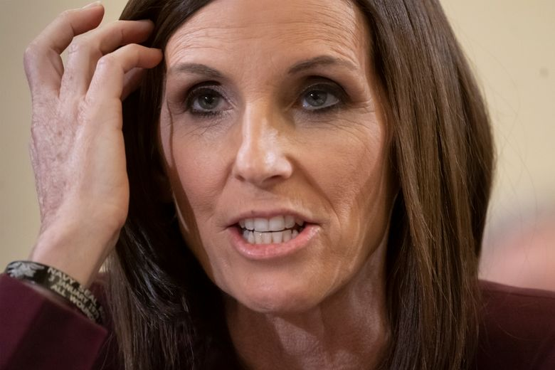 """CORRECTS TITLE OF BOOK TO """"DARE TO FLY"""" INSTEAD OF """"TIME TO FLY"""" – FILE – In this March 6, 2019 file photo, during a hearing by the Senate Armed Services Subcommittee on Personnel about prevention and response to sexual assault in the military, Sen. Martha McSally, R-Ariz., recounts her own experience while serving as a colonel in the Air Force, on Capitol Hill in Washington. McSally, the Arizona Republican appointed to the seat once held by John McCain, has a book deal. William Morrow announced Monday, Oct. 21 that McSally's """"Dare to Fly"""" is coming out next May. In a statement Monday, McSally said she had endured """"tragedies and barriers"""" and hoped her story would inspire others """"at all stages of life.""""  (AP Photo/J. Scott Applewhite, File)"""