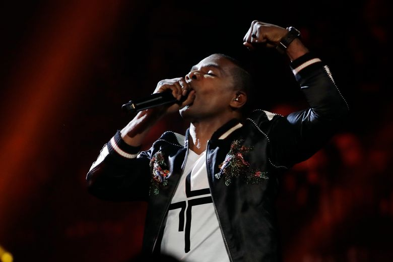 Kirk Franklin performs during the Dove Awards on Tuesday, Oct. 15, 2019, in Nashville, Tenn. (AP Photo/Mark Humphrey)