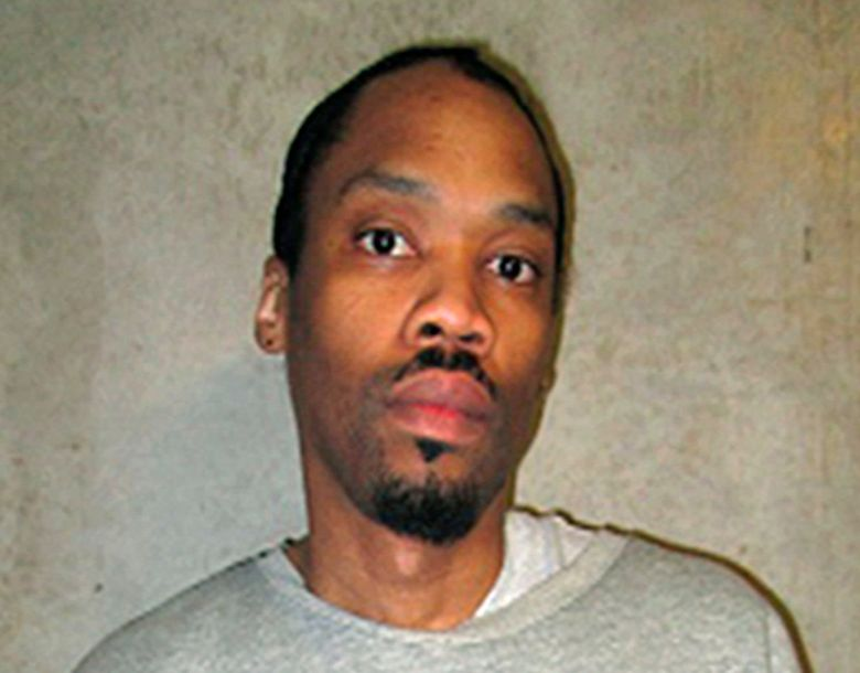 FILE – This Feb. 5, 2018, file photo provided by the Oklahoma Department of Corrections shows Julius Jones. Kim Kardashian West on Wednesday, Oct. 16, 2019, asked Oklahoma officials to consider a clemency petition for Jones, who's on death row for a murder conviction in the July 1999 killing of Paul Howell. Jones, who's black, says his 2002 trial was tainted when a juror used a racist term to describe him. (Oklahoma Department of Corrections via AP, File)