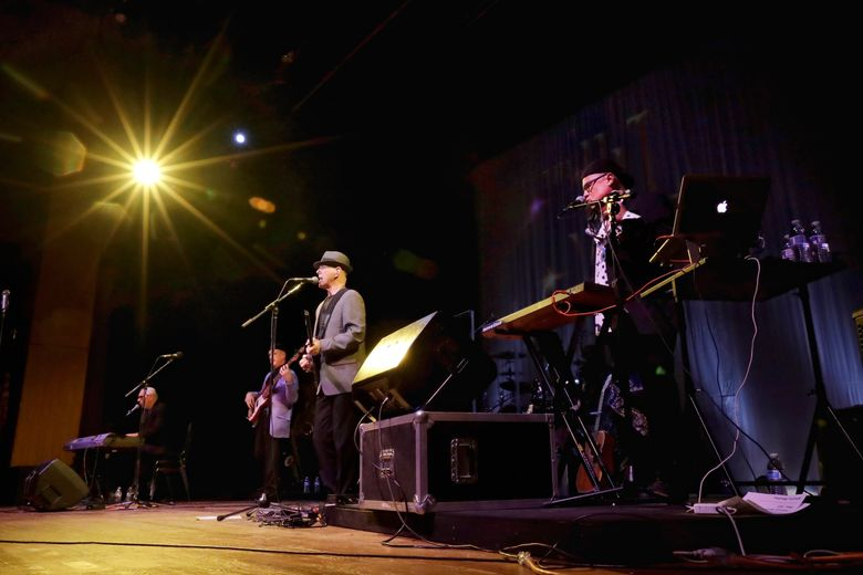 """FILE – In this July 20, 2017 file photo, The Hit Men play music during a show at the Axelrod Performing Arts Center, in Deal Park, N.J. The Musicians Hall of Fame and Museum in Nashville is giving The Hit Men its """"Road Warriors"""" award later this month. The group will play a concert in Nashville on Oct. 28, 2019. (AP Photo/Julio Cortez, File)"""