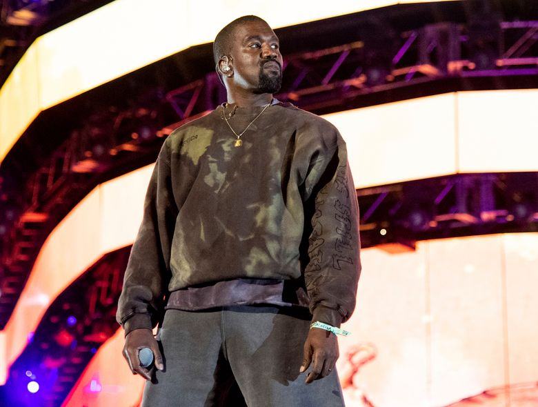 """FILE – This April 20, 2019 file photo shows Kanye West performing at the Coachella Music & Arts Festival in Indio, Calif. West has unveiled his """"Jesus Is King"""" IMAX film featuring a gospel choir performing at artist James Turrell's dramatic Roden Crater in the Arizona desert. West showed the 35-minute film off to fans at an event Wednesday night at The Forum in Inglewood, Calif. (Photo by Amy Harris/Invision/AP, File)"""