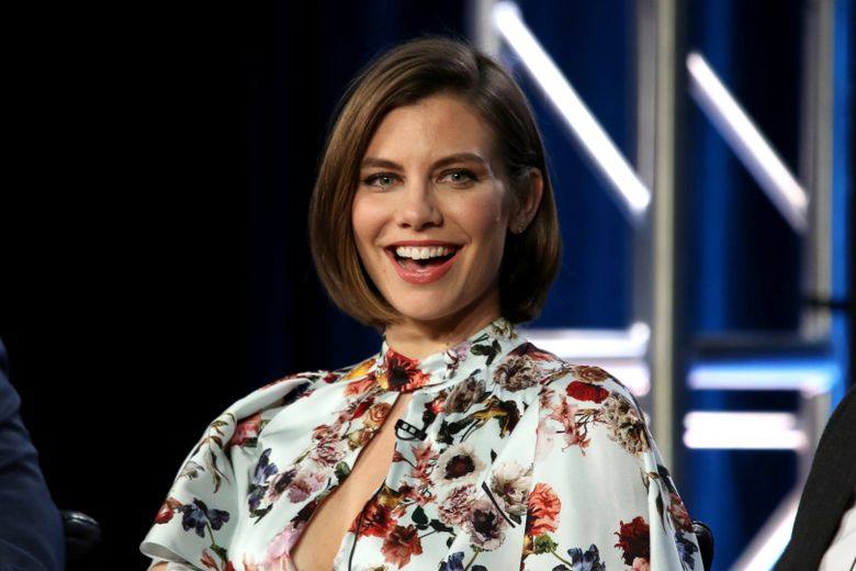 """FILE – In this Feb. 5, 2019 file photo, Lauren Cohan participates in the """"Whiskey Cavalier"""" panel during the ABC presentation at the Television Critics Association Winter Press Tour at The Langham Huntington in Pasadena, Calif. Cohan walked away from """"The Walking Dead."""" Now she's headed back. At the end of Saturday, Oct. 5, 2019 New York Comic Con panel for the apocalyptic AMC zombie series that has spawned its own universe, a masked cast member stood and revealed herself to be Cohan, whose return was subsequently announced. (Photo by Willy Sanjuan/Invision/AP, File)"""