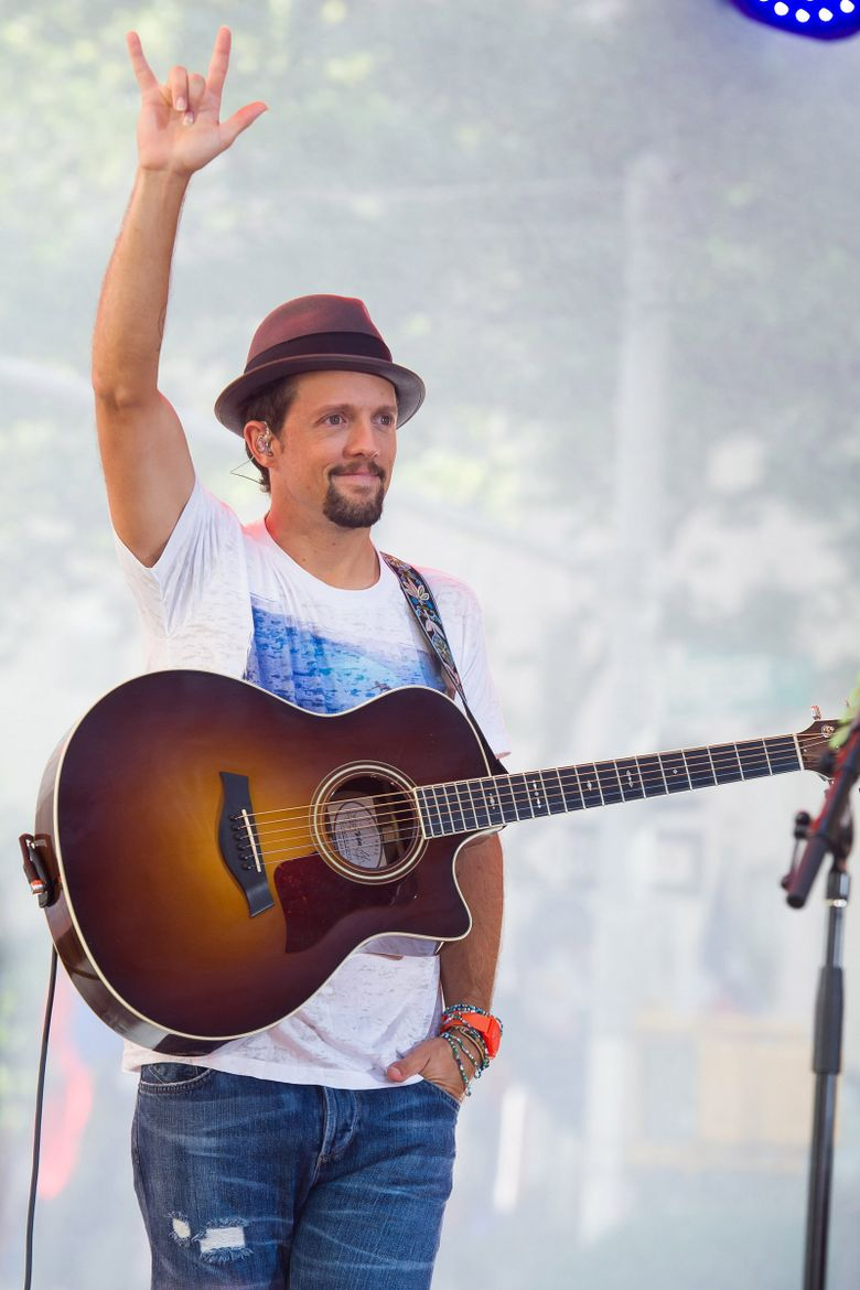 Jason Mraz will be spending two evenings, Nov. 9-10, performing at the Paramount. (Charles Sykes / Invision / AP, 2014)