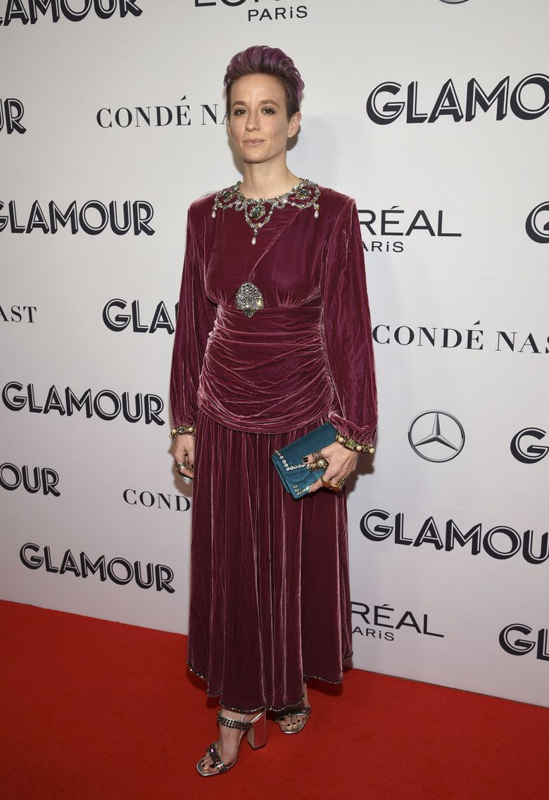 Megan Rapinoe attends the Glamour Women of the Year Awards at Alice Tully Hall on Monday, Nov. 11, 2019, in New York. (Photo by Evan Agostini/Invision/AP) NYBR110 NYBR110 (Evan Agostini / Evan Agostini/Invision/AP)