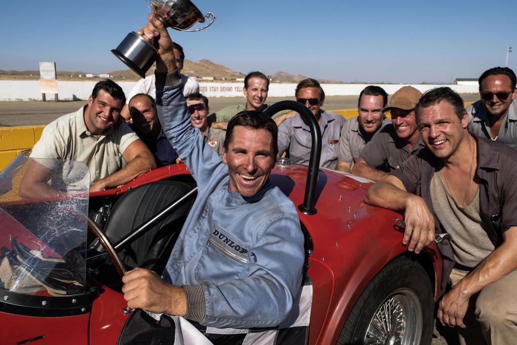 """Christian Bale in """"Ford v. Ferrari."""" (Merrick Morton / 20th Century Fox)"""