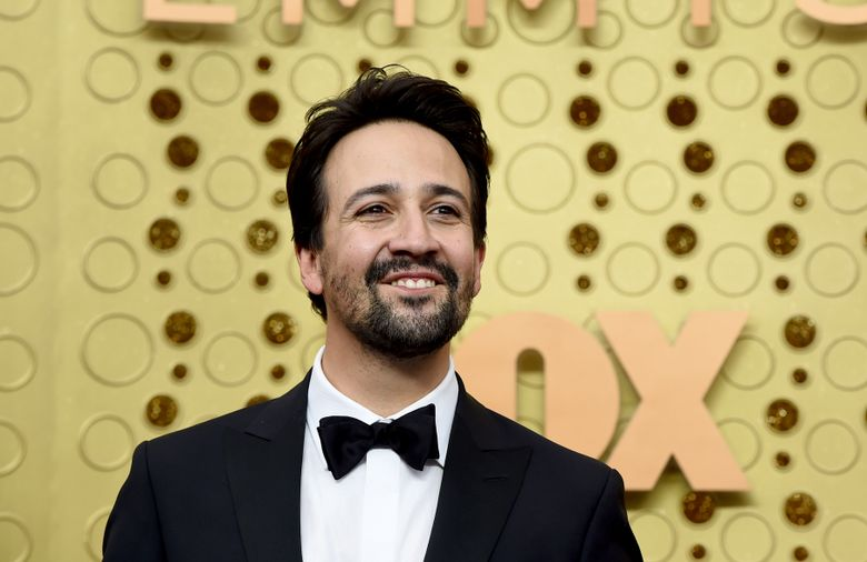 """FILE – In this Sept. 22, 2019 file photo, Lin-Manuel Miranda arrives at the 71st Primetime Emmy Awards at the Microsoft Theater in Los Angeles. With the holiday shopping season upon us, Miranda is encouraging people to take part in Small Business Saturday, an effort to shop at local, independent stores on the Saturday, Nov. 30, after Thanksgiving. The actor and """"Hamilton"""" creator says small businesses are a staple to the neighborhood.(Photo by Jordan Strauss/Invision/AP, File)"""