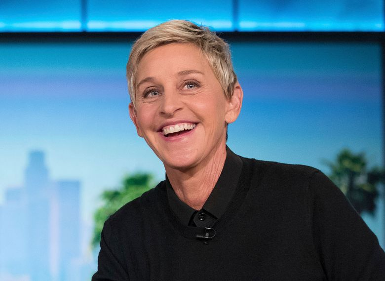 """FILE – In this Oct. 13, 2016 file photo, Ellen DeGeneres appears during a commercial break at a taping of """"The Ellen Show"""" in Burbank, Calif. The Golden Globe Awards announced Monday, Nov. 5, 2019, it will give its new Carol Burnett Award, a TV special achievement trophy, to DeGeneres who has been a pioneering sitcom star, a TV talk show host and a game show host. (AP Photo/Andrew Harnik, File)"""