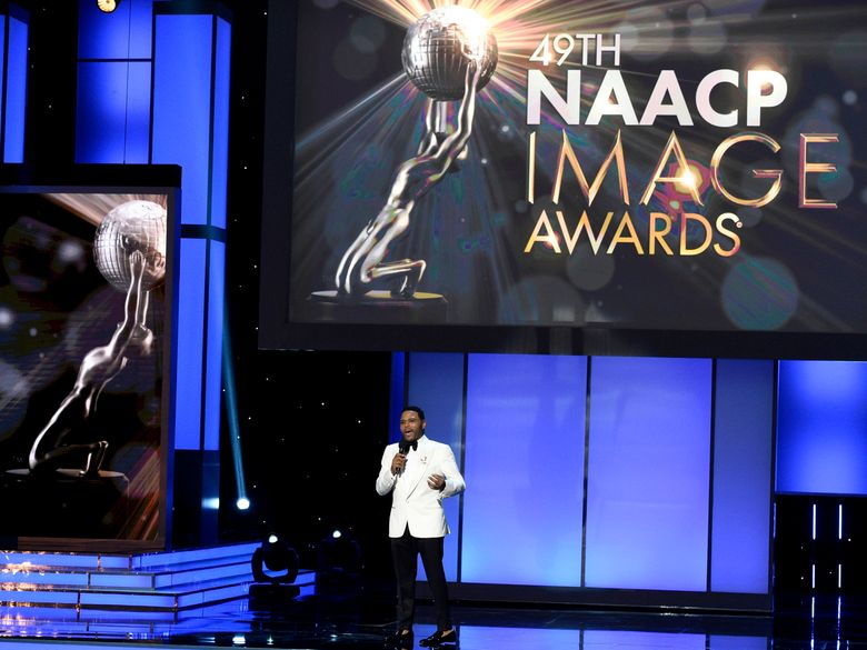FILE – This Jan. 15, 2018 file photo shows Anthony Anderson hosting the 49th annual NAACP Image Awards in Pasadena, Calif. The NAACP Image Awards will be televised for the first time on BET. NAACP and the cable network announced Monday, Nov. 25, 2019, that the 51th awards ceremony will be televised at a venue in Pasadena, California on Feb. 22.  (Photo by Chris Pizzello/Invision/AP, File)