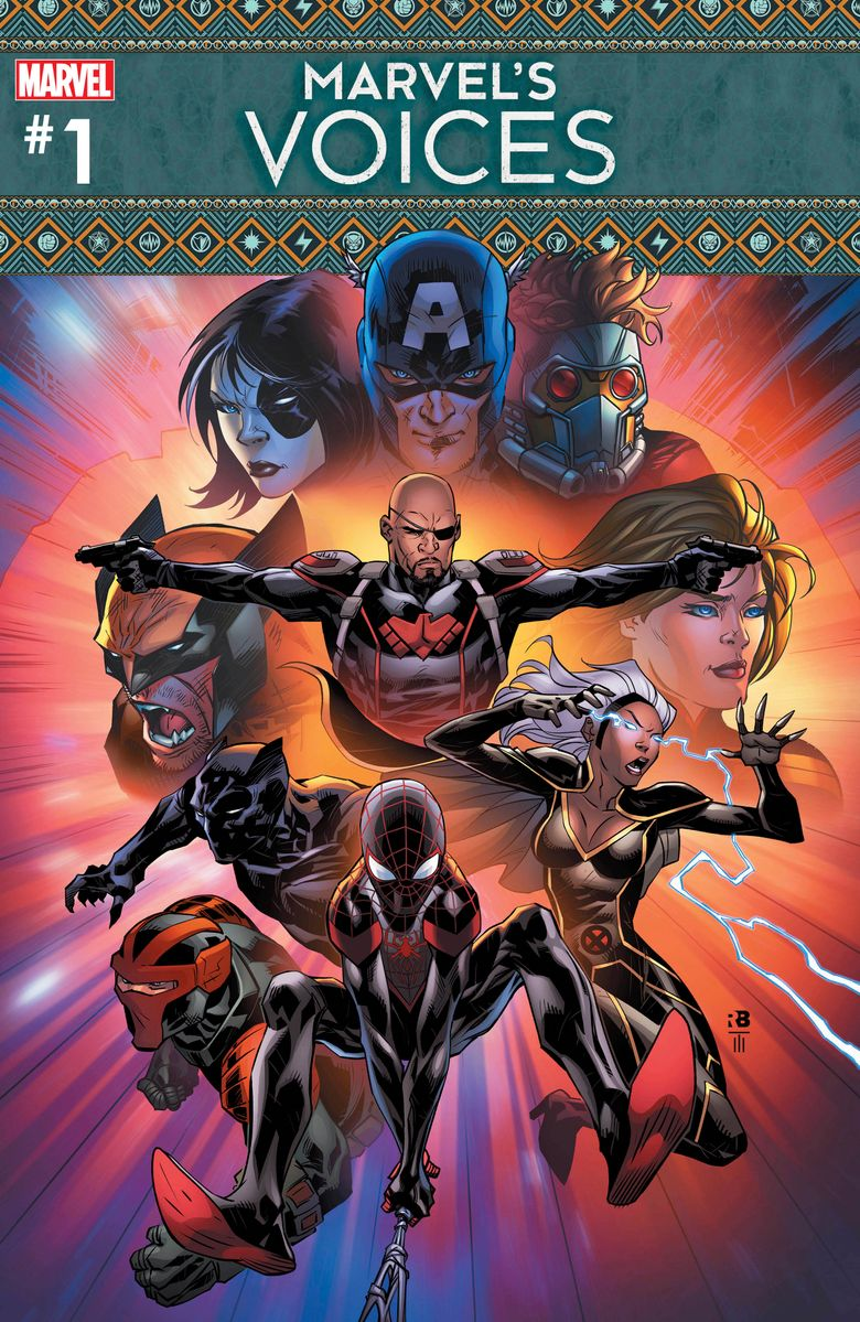 """This cover image released by Marvel Comics shows """"Marvel's Voices #1,"""" an extension of the Marvel's Voices podcast, which launched last year. (Marvel via AP)"""