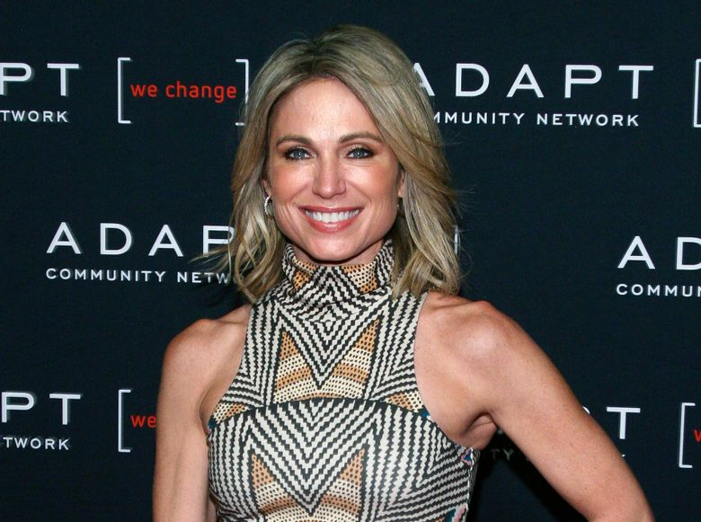 FILE – This March 14, 2019 file photo shows ABC News' Amy Robach at the 2019 ADAPT Leadership Awards in New York. ABC News is defending itself against charges that it was afraid to air an interview with a Jeffrey Epstein accuser after video emerged Tuesday showing Robach venting about her story. ABC says that Robach's 2015 interview with accuser Virginia Roberts didn't have enough corroborating evidence. (Photo by Andy Kropa/Invision/AP, File)
