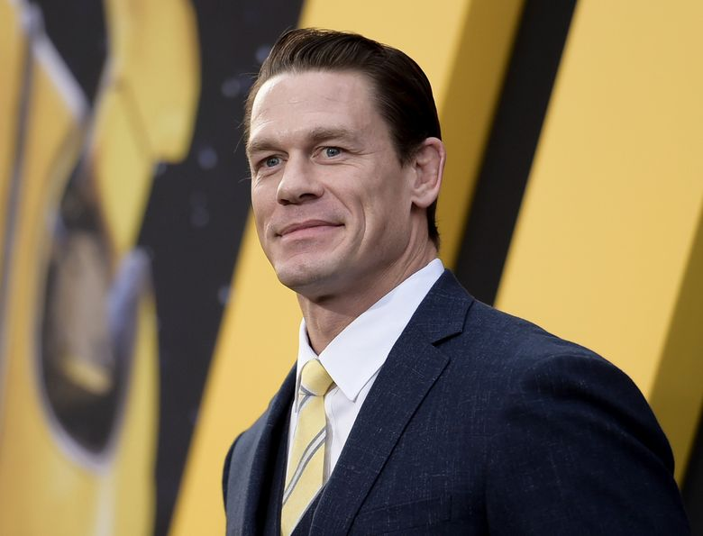 """FILE – This Dec. 9, 2018 file photo shows John Cena at the premiere of """"Bumblebee"""" in Los Angeles. Cena stars in """"64th Man"""", an audio series premiering on Audible on Thursday.  (Photo by Richard Shotwell/Invision/AP, File)"""