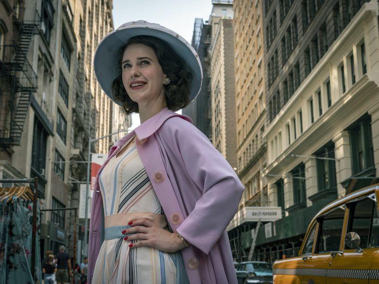 "Amazon launches the third season of ""The Marvelous Mrs. Maisel,"" starring Rachel Brosnahan. (Philippe Antonello / Amazon Studios)"