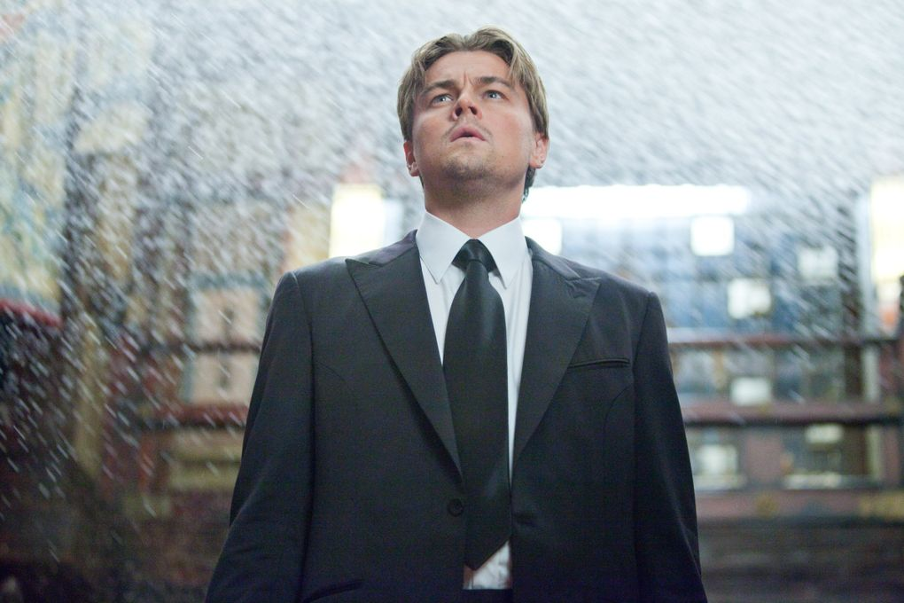 """Leonardo DiCaprio stars in Christopher Nolan's """"Inception,"""" a mind-bending, time-stretching thrill of a movie. (Melissa Moseley / Warner Bros. Pictures)"""