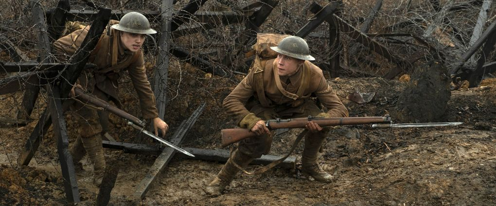 """Sam Mendes' """"1917,"""" with Dean-Charles Chapman, left, and George MacKay, opens in Seattle-area theaters on Jan. 10. It was nominated for several Golden Globes, including for best motion picture drama. (Francoise Duhamel / Universal Pictures via The Associated Press)"""