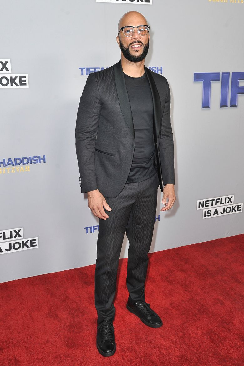 """Common attends Tiffany Haddish's """"Black Mitzvah"""" at the SLS Hotel on Tuesday, Dec. 3, 2019, in Los Angeles. (Photo by Richard Shotwell/Invision/AP)"""