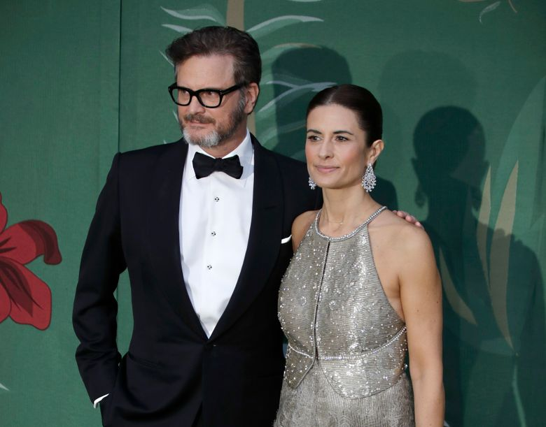 FILE – In this file photo dated Sunday, Sept. 22, 2019, British actor Colin Firth and his wife Livia, pose for photographers upon arrival at the Green Carpet Fashion Awards in Milan, Italy.  A statement from their publicists says Colin and Italian eco-campaigner and film producer Livia Firth have separated after 22-years of marriage. (AP Photo/Luca Bruno, FILE)
