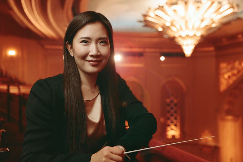 """This undated photo provided by the San Francisco Opera shows San Francisco Opera Music Director Designate Eun Sun Kim. The 39-year-old Kim will become the company's music director designate effective immediately and take on the position permanently in August, conducting Beethoven's """"Fidelio"""" when the 2020-21 season opens, the company said Thursday.(Marc Olivier Le Blanc/San Francisco Opera via AP)"""