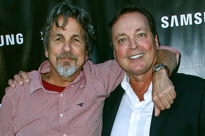 """FILE – In this Aug. 10, 2015 file photo, Peter Farrelly, left, and Bobby Farrelly attend The Project Greenlight Season 4 premiere of """"The Leisure Class"""" at The Theatre At The Ace Hotel in Los Angeles. The Boston-based Ruderman Family Foundation said Wednesday, Dec. 4, 2019, that the brothers are recipients of its sixth annual Morton E. Ruderman Award in Inclusion for pressing Hollywood to do a better job of casting and portraying people with disabilities. (Photo by Paul A. Hebert/Invision/AP, File)"""