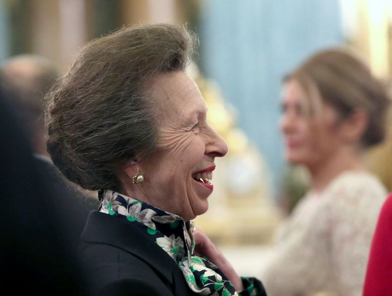 Britain's Princess Anne talks to guests last month during a reception at Buckingham Palace. The British royal family might be known for smiling and waving in fancy outfits, but they work just as hard as anyone else…right? According to official records, prominent members of the royal family worked on average 84.5 days, a third of the 253 working days in 2019. The Queen's only daughter, Princess Anne, was the hardest-working royal for the second year in a row, working a total of 167 days. (Yui Mok/Pool Photo via AP, file)