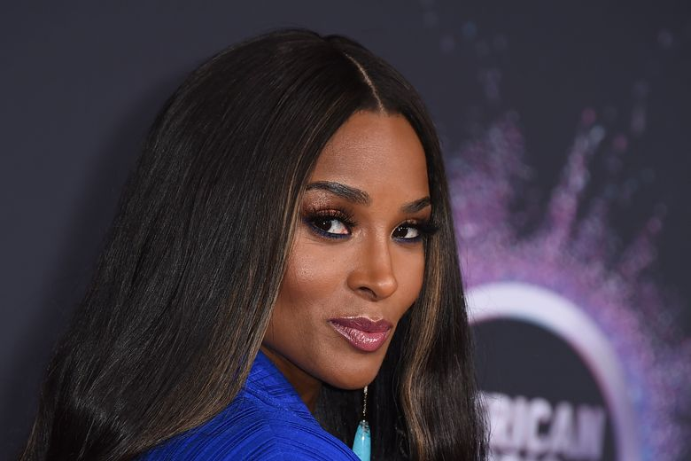 """FILE – In this Nov. 24, 2019, file photo, Ciara arrives at the American Music Awards at the Microsoft Theater in Los Angeles. Recording artist Ciara returned to the city where she launched her career to surprise students at an Atlanta-area STEM high school on Monda, Dec. 16, 2019. The R&B artist sat in on a class with students at Paul Duke Stem High, a Norcross school which focuses on science, technology, engineering and math education. Students there have been using computer coding skills to remix her songs such as """"Melanin""""and """"Set."""" (Photo by Jordan Strauss/Invision/AP, File)"""