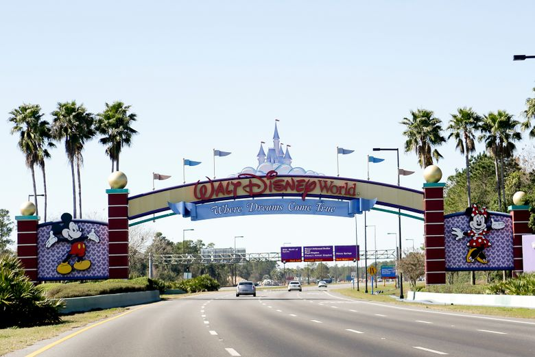 In Lake Buena Vista, Fla.,  Walt Disney World employees who portray Mickey Mouse, Minnie Mouse and Donald Duck each filed police reports this month, December 2019, claiming they were inappropriately touched by tourists. The woman inside the Mickey Mouse costume went to the hospital with neck injuries caused by a grandmother patting the character's head, while the employees wearing the Minnie Mouse and Donald Duck costumes were groped by tourists, according to Orange County Sheriff's Office reports. (AP Photo/John Raoux, File)