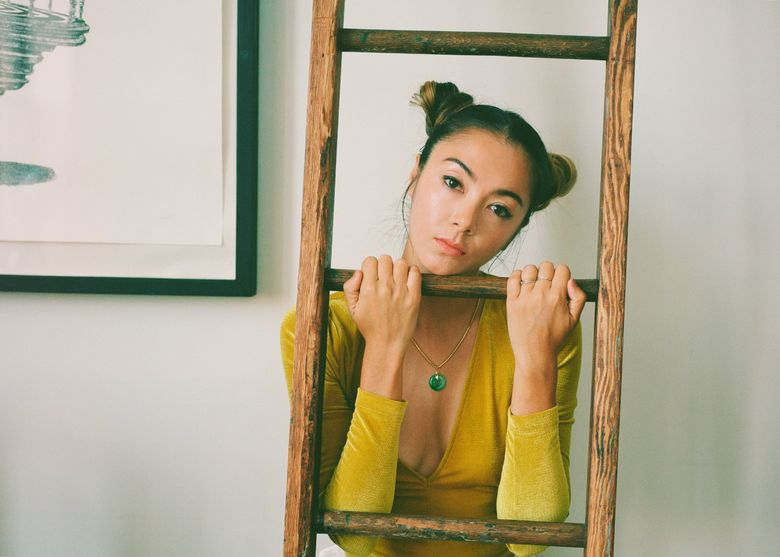 """Hollis Wong-Wear's debut solo EP """"half-life"""" takes on the theme of existentialism and has a more melancholic sound than her work as a member of electronic R&B trio The Flavr Blue. (Kiu Ka Yee)"""