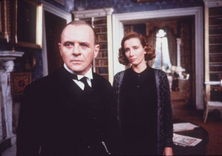 """Anthony Hopkins and Emma Thompson star in the 1993 Merchant/Ivory movie """"The Remains of the Day."""" (Columbia Pictures)"""