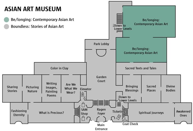 The floorplan of the renovated Seattle Asian Art Museum. (Courtesy of Seattle Art Museum)