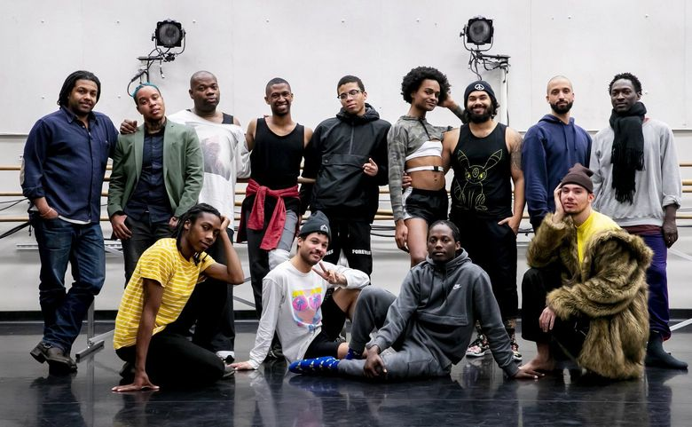 """""""Black Bois"""" creator Dani Tirrell calls the show """"a love letter to Black bodies, minds, and spirits."""" The original 2018 run of the show sold out. Now it's back for one performance, on Valentine's Day at the Moore Theatre. (Erika Schultz / The Seattle Times)"""