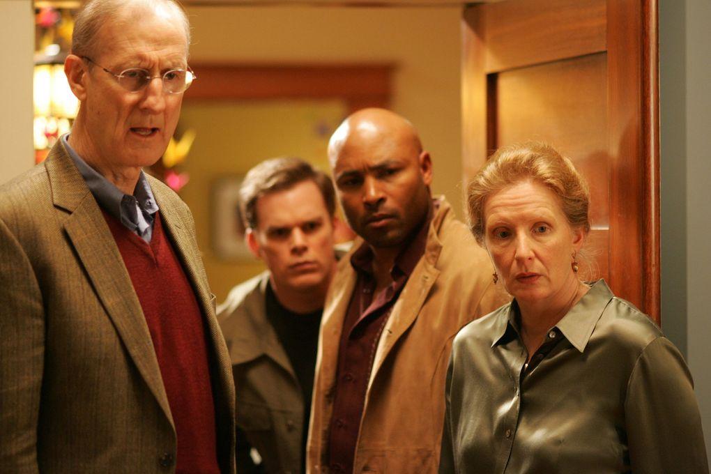 SIX FEET UNDER: James Cromwell, Michael C. Hall, Mathew St. Patrick, Frances Conroy.  (John P. Johnson / HBO)