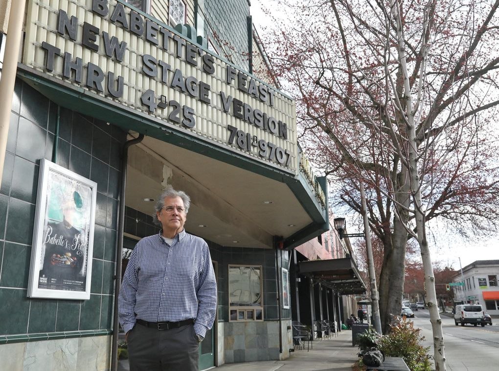 Scott Nolte is Taproot Theatre's producing artistic director, president and CEO. He says coronavirus fears have affected Taproot badly, including ticket sales being down by 80%, before the ban on large gatherings hit. (Greg Gilbert / The Seattle Times)