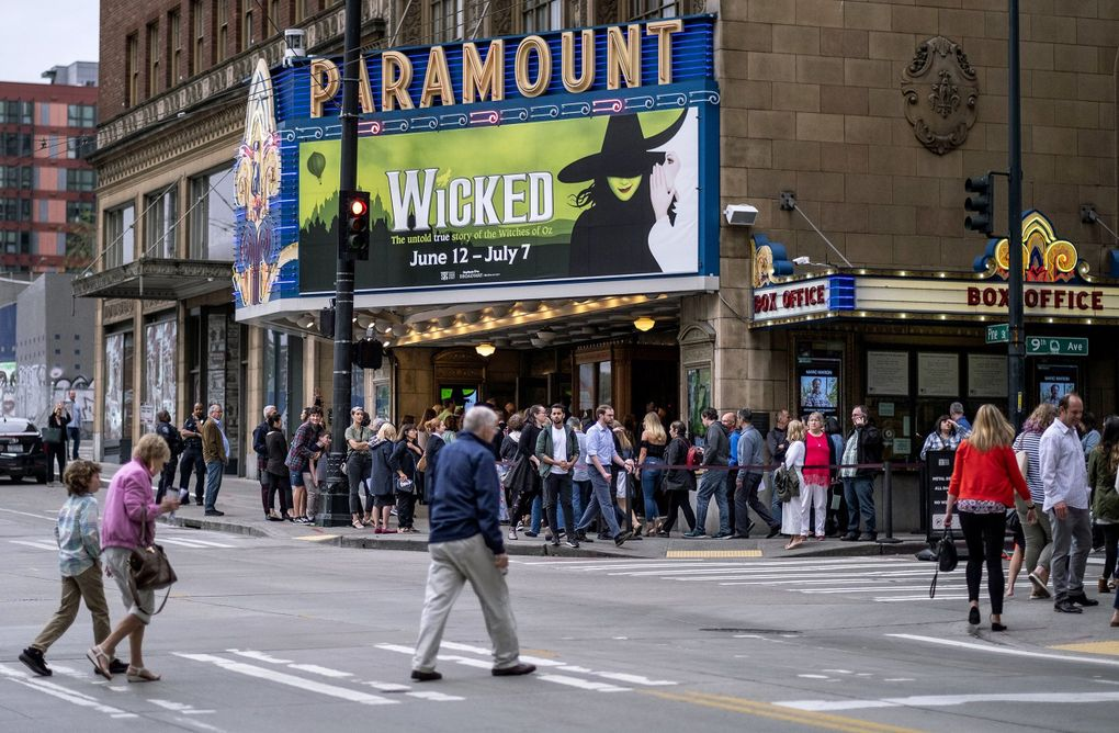 Concerts and shows scheduled at Seattle's Paramount Theatre, shown in June, were postponed after Gov. Jay Inslee announced a ban on large gatherings as officials sought to rein in the coronavirus outbreak.   (Dean Rutz / The Seattle Times, 2019)