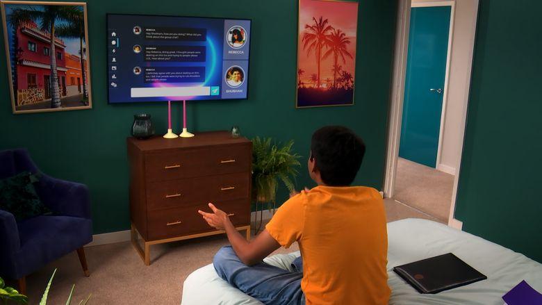 """Contestant Shubham Goel on """"The Circle."""" (Courtesy of Netflix)"""