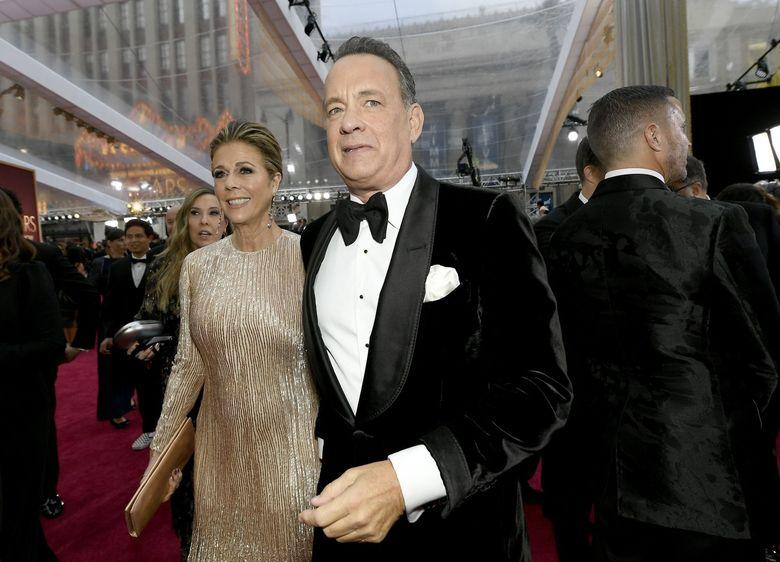 Tom Hanks and Rita Wilson. (Getty Images via Bloomberg)
