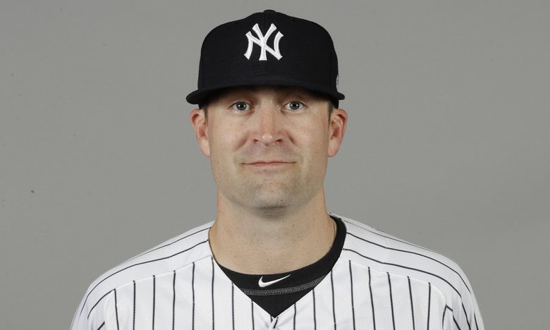 This is a 2020 photo of Tanner Swanson of the New York Yankees baseball team. This image reflects the Yankees active roster as of Thursday, Feb. 20, 2020, when this image was taken. (AP Photo/Frank Franklin II) (Frank Franklin II / AP)