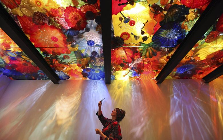 """Chihuly Studios and Traver Gallery will debut the digital exhibition """"Chihuly Merletto,"""" the newest collection of work by Dale Chihuly, on Thursday, June 4. (Elaine Thompson / AP)"""