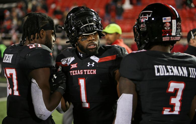 The Seahawks took Texas Tech linebacker Jordyn Brooks (1) with the No. 27 pick in the NFL draft. (TNS)