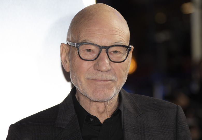 """Actor Patrick Stewart, here arriving at the premiere for """"Star Trek: Picard"""" in London in January, is reading aloud a Shakespeare sonnet a day during these quarantine times. (Joel C Ryan / Invision / AP)"""