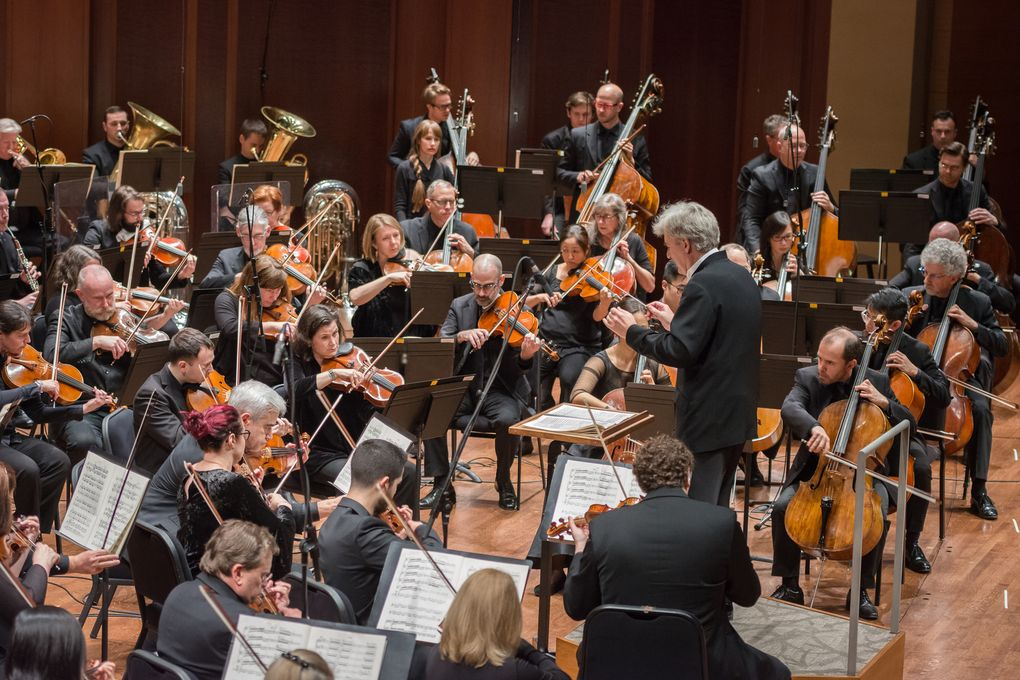 Seattle Symphony received $3.82 millionfrom the Paycheck Protection Program, allowing it to temporarily hire back many formerly furloughed employees. (Carlin Ma)