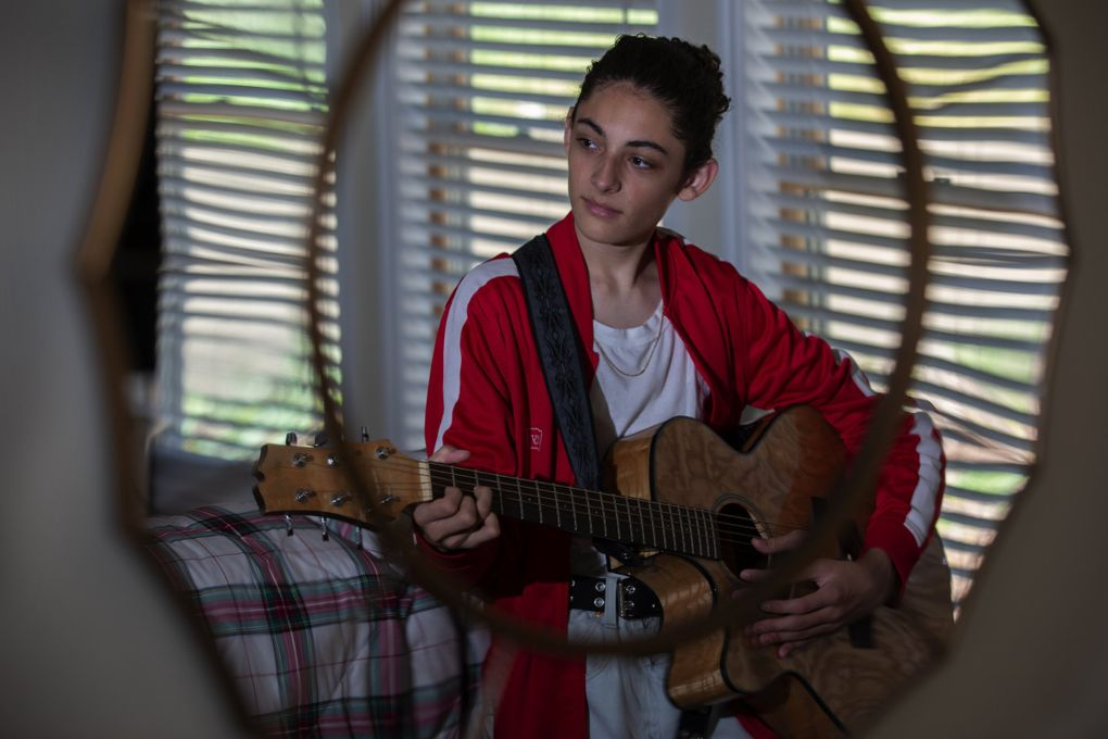 """Benicio Bryant, a Maple Valley teen who was on """"America's Got Talent"""" in 2019, was recently signed to a big-time record deal.  (Ellen M. Banner / The Seattle Times)"""