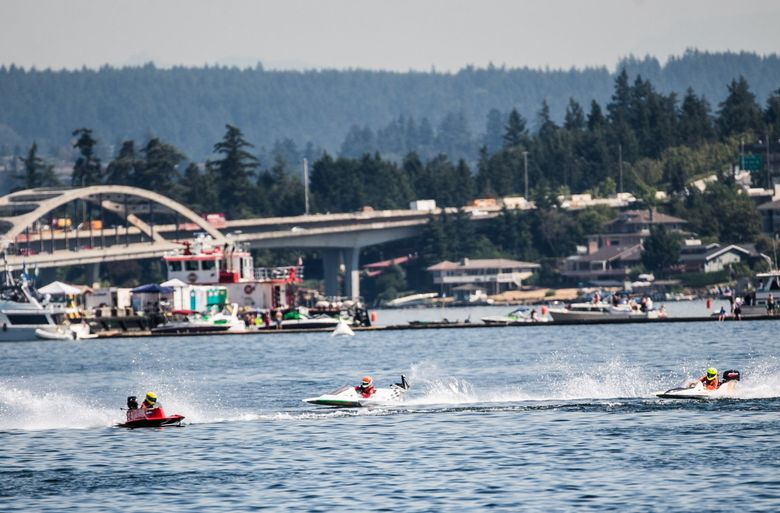 Annual Seafair events will not occur this year because of the coronavirus pandemic. (Rebekah Welch / The Seattle Times)