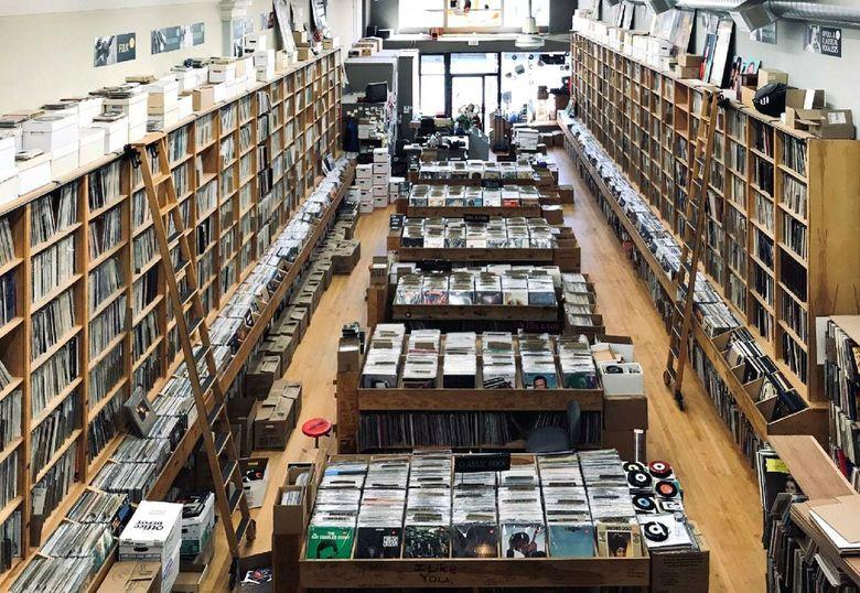Inside Bop Street Records in Ballard. (Courtesy of Bop Street Records)