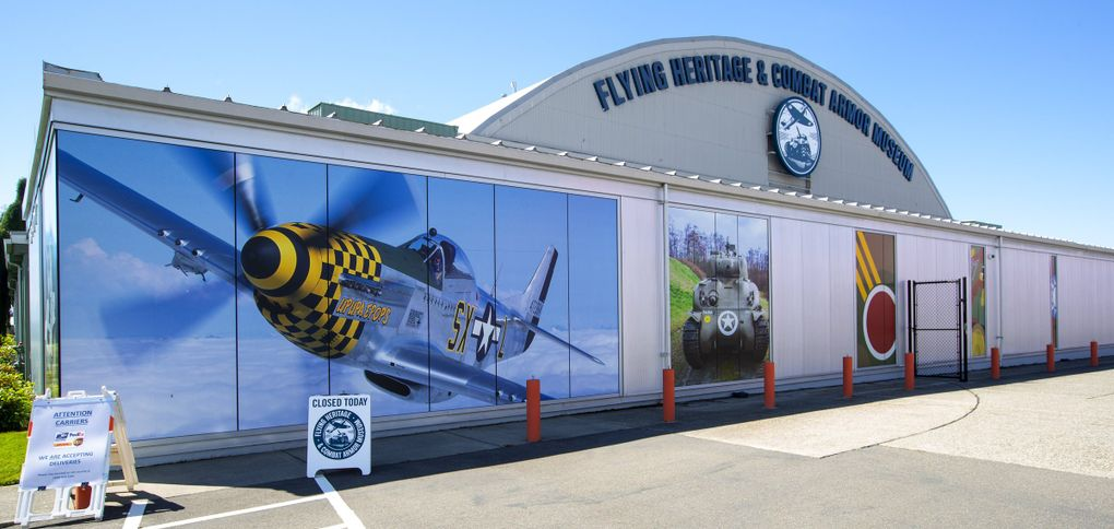 The Flying Heritage &  Combat Armor Museum,  located at Paine Field in Everett, was founded by Paul Allen and served as a showcase for his military aircraft, vehicle and artifact collection. (Mike Siegel / The Seattle Times)