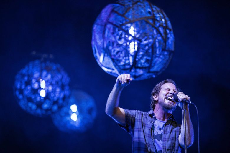 """Pearl Jam, shown here playing one of two Home Shows at Safeco Field in 2018, has the last song on ESPN's documentary series """"The Last Dance."""" The song, """"Present Tense,"""" is a deep cut from the band's 1996 album """"No Code."""" (Dean Rutz / The Seattle Times)"""