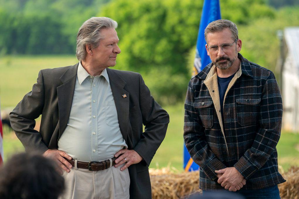 "Chris Cooper and Steve Carell in ""Irresistible."" (Daniel McFadden / Focus Features)"