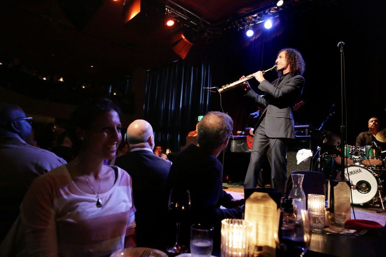 Kenny G plays at Dimitriou's Jazz Alley in 2014. (Erika Schultz / The Seattle Times)