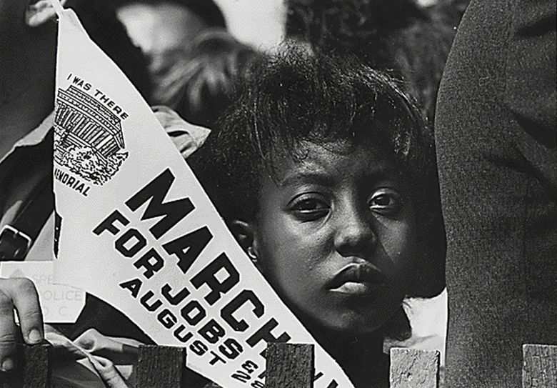 The story of the 1963 March on Washington is highlighted in Google Arts & Culture's exploration ofthe history, arts and culture of Black people in the United States. Above, Edith Lee Payne is pictured on her 12th birthday at the march. (U.S. National Archives / McClatchy Newspapers)