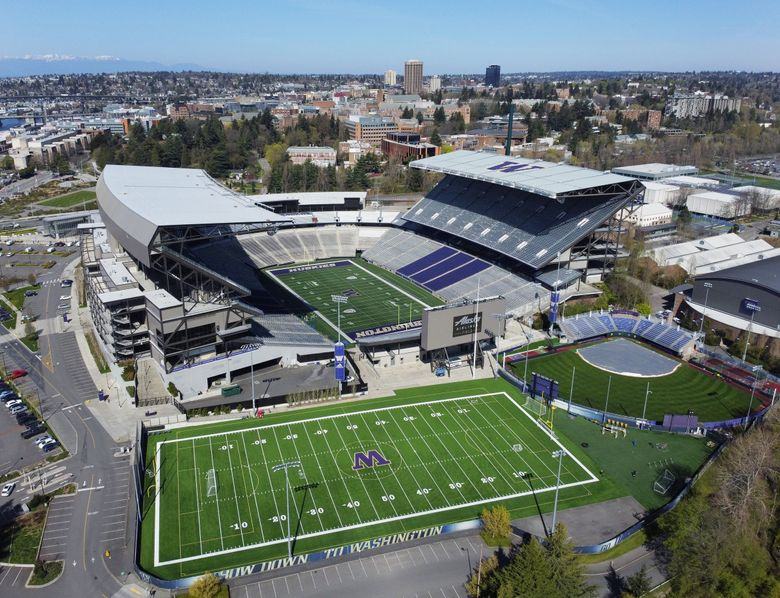 University of Washington's Husky Stadium and surrounding sports complex. (Ken Lambert / The Seattle Times, file)