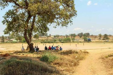 Lughano Nyondo's first soccer field in Kototo, Mzuzu, Malawi. (Courtesy of George Maguire)